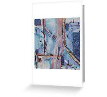 Blue transposal Greeting Card