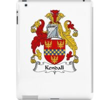 Coat of arms (family crest) for last-name or surname Kendall . Heraldry banner for your name. iPad Case/Skin