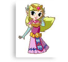Zelda - pixel art Canvas Print