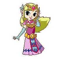 Zelda - pixel art Photographic Print