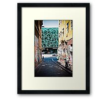 View of Federation Square from Hosier Lane, Melbourne Framed Print