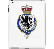 Coat of arms (family crest) for last-name or surname Kendrick (England) . Heraldry banner for your name. iPad Case/Skin