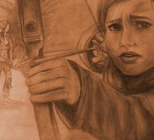 Ellie in Winter - Sepia by angryswan