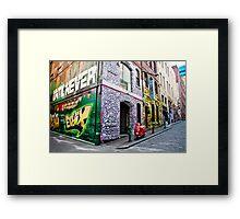 Hosier and Rutledge Lanes, Melbourne Framed Print