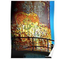 Water Tower Graffiti 2 Poster