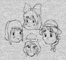 Ghibli Girls Kids Tee