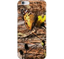 Butterfly on Yellow Flowers iPhone Case/Skin