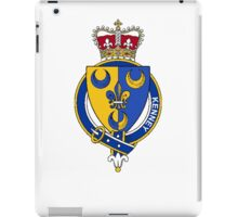 Coat of arms (family crest) for last-name or surname Kenney or Kenny (Ireland) . Heraldry banner for your name. iPad Case/Skin