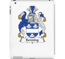 Coat of arms (family crest) for last-name or surname Kenning . Heraldry banner for your name. iPad Case/Skin