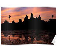 Dawn over Angkor Wat, Cambodia Poster