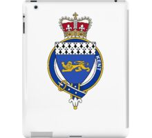 Coat of arms (family crest) for last-name or surname Kent (England) . Heraldry banner for your name. iPad Case/Skin