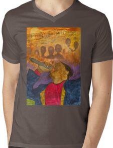 The Soul Singer Mens V-Neck T-Shirt