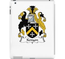 Coat of arms (family crest) for last-name or surname Kenyon . Heraldry banner for your name. iPad Case/Skin