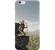 Blonde Female Elf Archer above the Forest iPhone Case/Skin