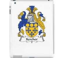 Coat of arms (family crest) for last-name or surname Kercher . Heraldry banner for your name. iPad Case/Skin
