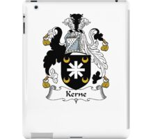 Coat of arms (family crest) for last-name or surname Kerne . Heraldry banner for your name. iPad Case/Skin