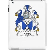 Coat of arms (family crest) for last-name or surname Kerry . Heraldry banner for your name. iPad Case/Skin