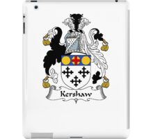 Coat of arms (family crest) for last-name or surname Kershaw . Heraldry banner for your name. iPad Case/Skin