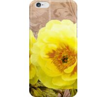 Butter yellow Peonies, floral art iPhone Case/Skin