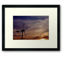 Dawn of renewable energy. Framed Print