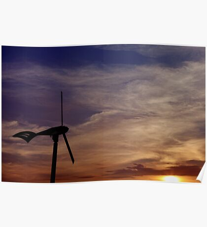 Dawn of renewable energy. Poster