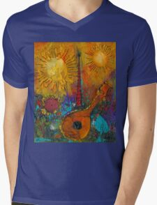 The Banjo and The Tambourine Mens V-Neck T-Shirt