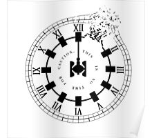 Interstellar - No Time For Caution (Endurance / Shattered Clock Design) Poster