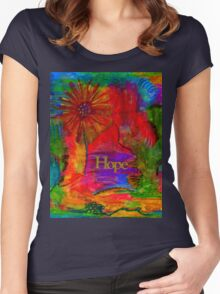 Brighter Days Ahead Women's Fitted Scoop T-Shirt