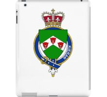 Coat of arms (family crest) for last-name or surname Kieran or O'Kieran (Ireland) . Heraldry banner for your name. iPad Case/Skin