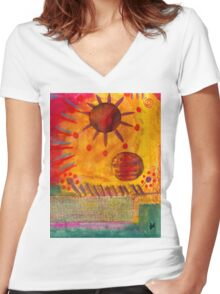 The Sun Shines on US the Same Women's Fitted V-Neck T-Shirt
