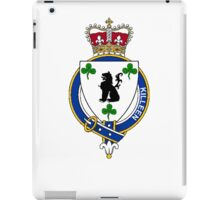 Coat of arms (family crest) for last-name or surname Killeen or Killian (Ireland) . Heraldry banner for your name. iPad Case/Skin