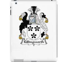 Coat of arms (family crest) for last-name or surname Killingworth . Heraldry banner for your name. iPad Case/Skin