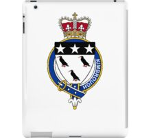 Coat of arms (family crest) for last-name or surname Kimbrough (England) . Heraldry banner for your name. iPad Case/Skin