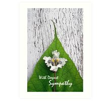 With Deepest Sympathy, Catalpa Bloom and Leaf Art Print