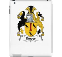 Coat of arms (family crest) for last-name or surname Kinder . Heraldry banner for your name. iPad Case/Skin