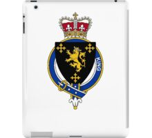 Coat of arms (family crest) for last-name or surname King (England) . Heraldry banner for your name. iPad Case/Skin