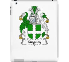 Coat of arms (family crest) for last-name or surname Kingsley . Heraldry banner for your name. iPad Case/Skin