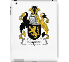 Coat of arms (family crest) for last-name or surname Kingston . Heraldry banner for your name. iPad Case/Skin