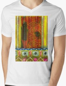 Saw A Woman in a Black Dress, a Black Hat But No Gloves Mens V-Neck T-Shirt