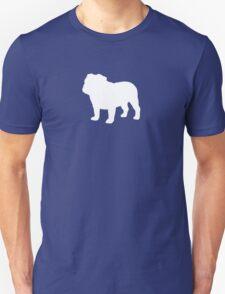 White Bulldog Silhouette T-Shirt