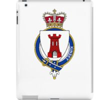 Coat of arms (family crest) for last-name or surname Kinsey (England) . Heraldry banner for your name. iPad Case/Skin