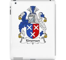 Coat of arms (family crest) for last-name or surname Kinsman . Heraldry banner for your name. iPad Case/Skin