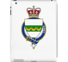 Coat of arms (family crest) for last-name or surname Kirby (England) . Heraldry banner for your name. iPad Case/Skin