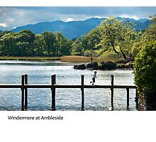 UK - Ambleside on the shores of Windermere in Cumbria Photographic Print