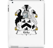 Coat of arms (family crest) for last-name or surname Kirke . Heraldry banner for your name. iPad Case/Skin