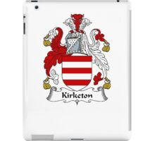 Coat of arms (family crest) for last-name or surname Kirketon . Heraldry banner for your name. iPad Case/Skin
