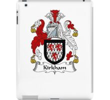 Coat of arms (family crest) for last-name or surname Kirkham . Heraldry banner for your name. iPad Case/Skin