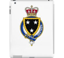 Coat of arms (family crest) for last-name or surname Kirkland (Scotland) . Heraldry banner for your name. iPad Case/Skin
