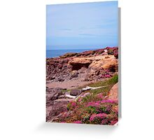Spring Flowers On The Beach Greeting Card