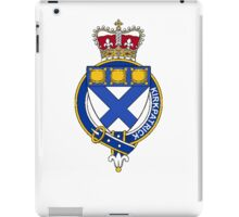 Coat of arms (family crest) for last-name or surname Kirkpatrick (Scotland) . Heraldry banner for your name. iPad Case/Skin